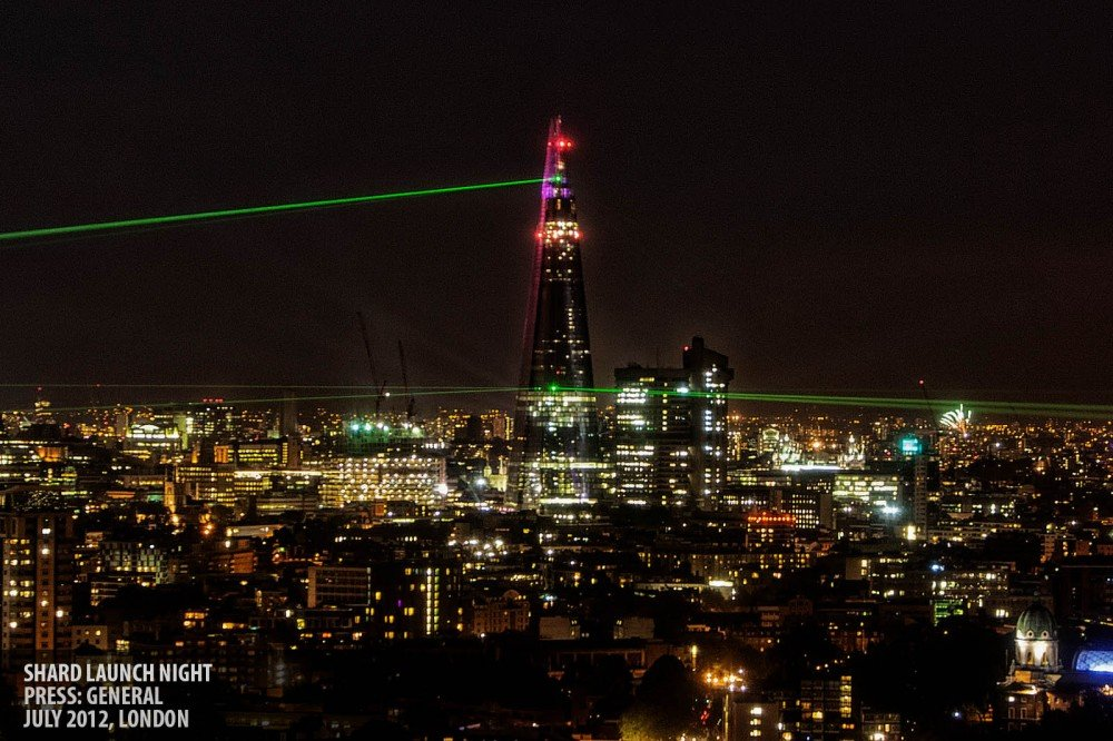 Laser beams copyright Paul Clarke