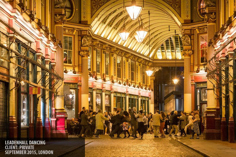 Guests dancing at a private event in Leadenhall Market London photography copyright Paul Clarke