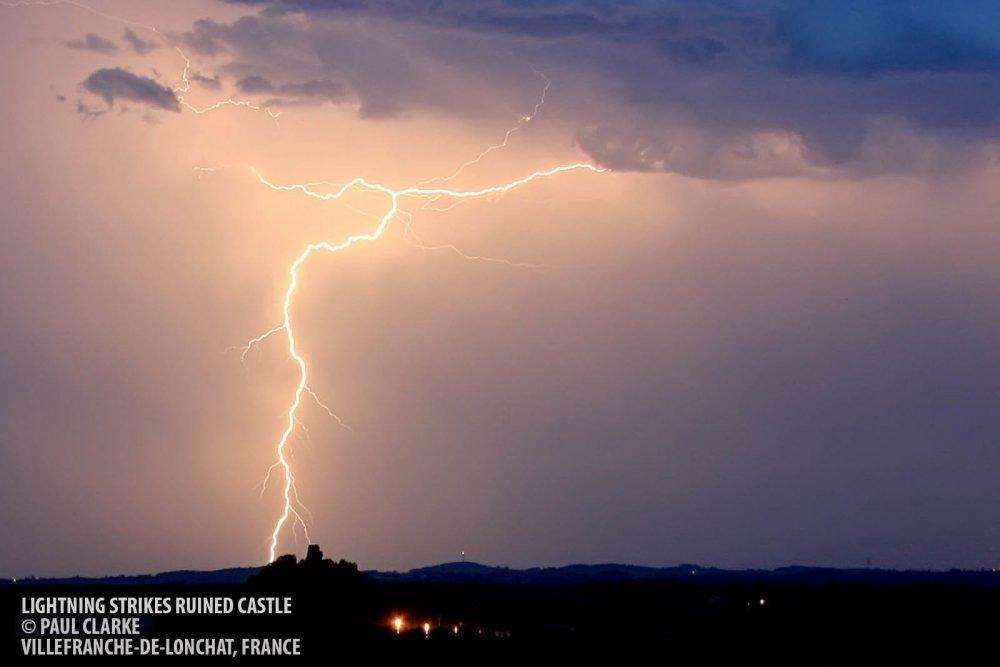 Lightning strike copyright Paul Clarke