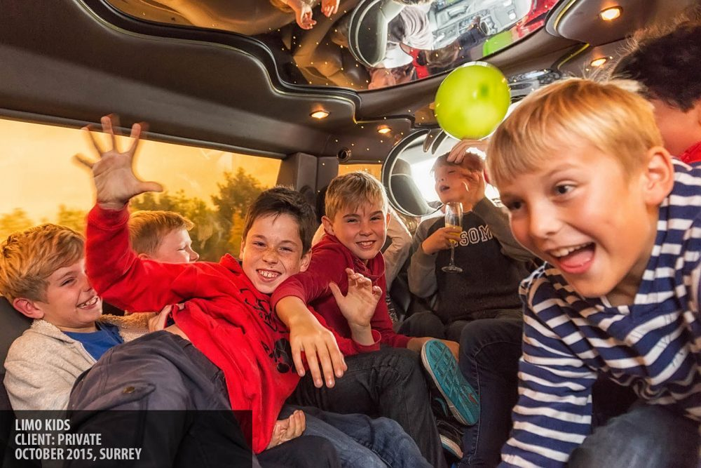 Children's party limousine photography copyright Paul Clarke