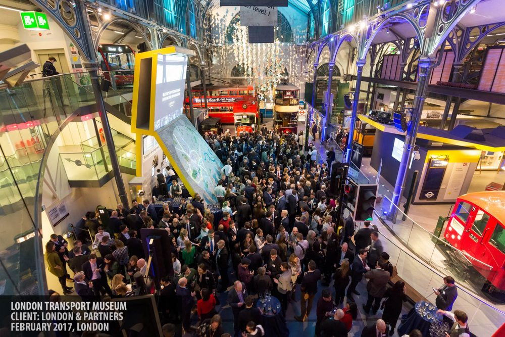A corporate event at the Museum of London Transport, Covent Garden photography copyright Paul Clarke