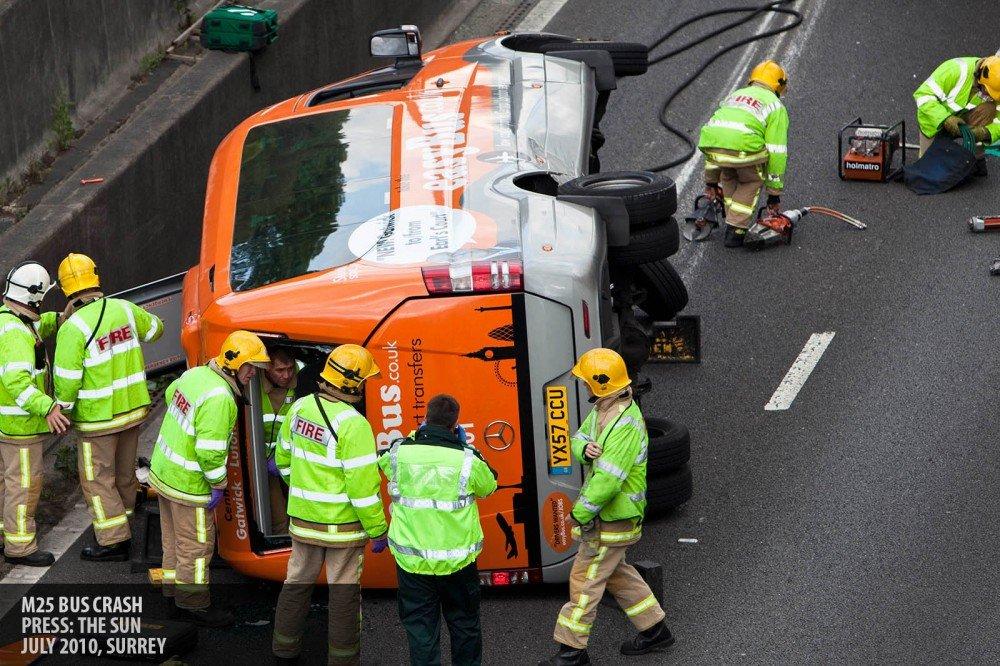 M25 bus crash copyright Paul Clarke