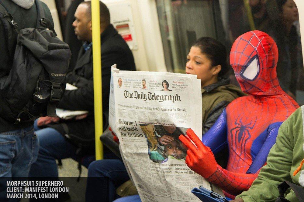 Morphsuit superhero copyright Paul Clarke
