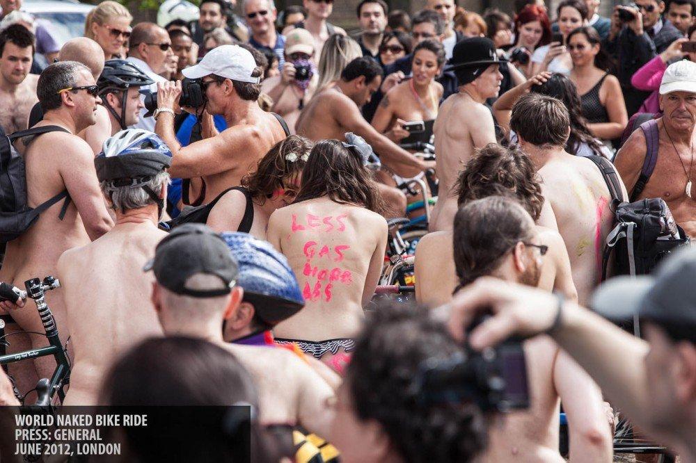 Naked bike ride copyright Paul Clarke