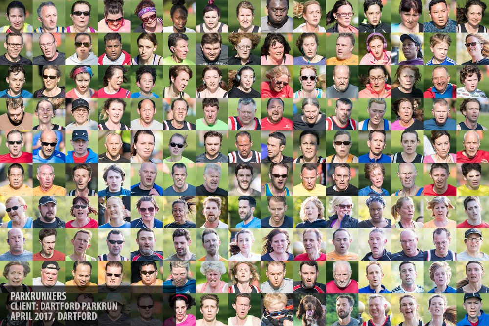 Montage of runners photography copyright Paul Clarke