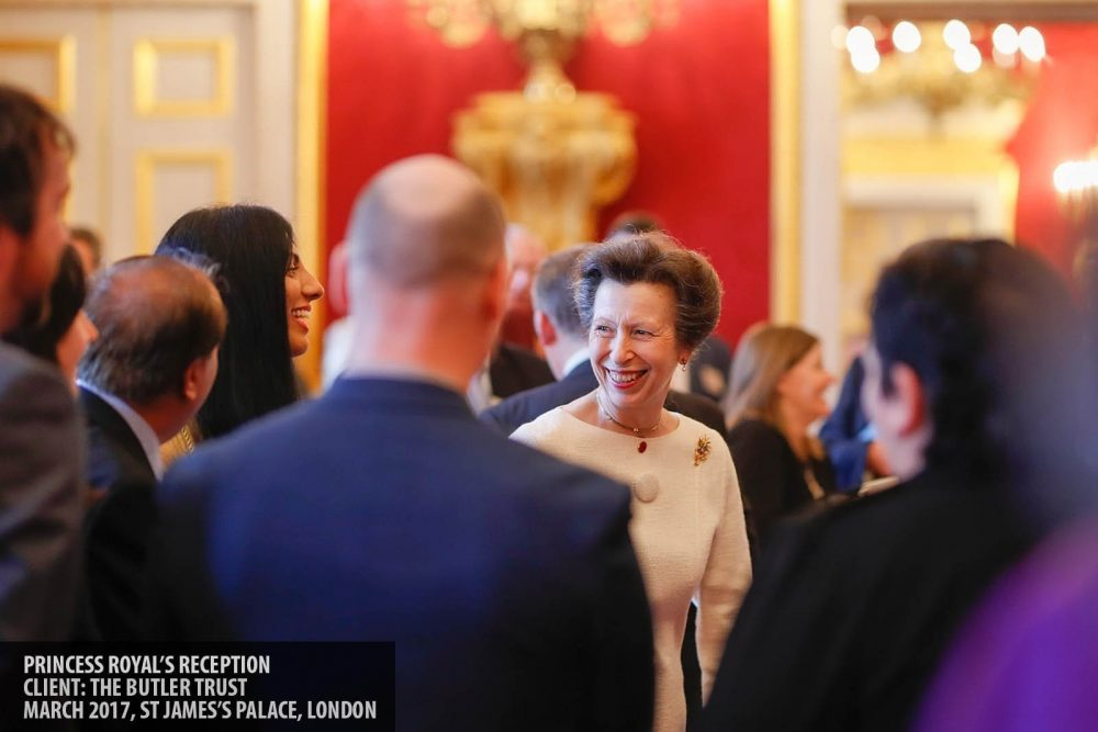 The Princess Royal meeting award winners at an awards event in St James Palace photography copyright Paul Clarke