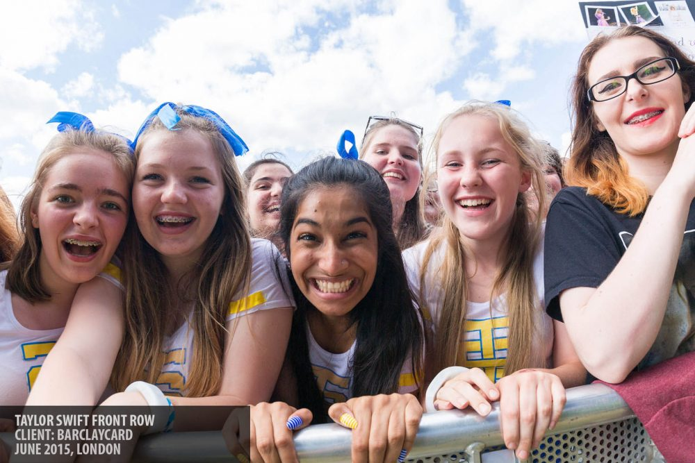 The front row of Taylor Swift's concert in Hyde Park London photography copyright Paul Clarke