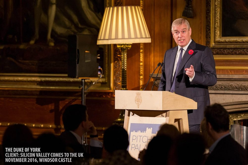 The Duke of York speaking at Windsor Castle photography copyright Paul Clarke